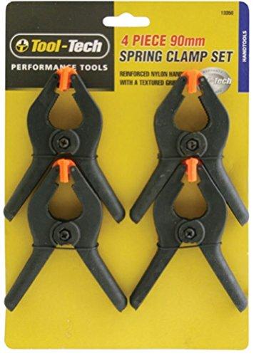 Tool Tech–Abrazadera de resorte, 4unidades para fuerte Tendedero Clavijas Clips para mantel el uso Regular
