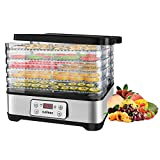 Food Dehydrators Machine, Dryer Dehydrators for Food and Jerky with Digital Time & Temperature...