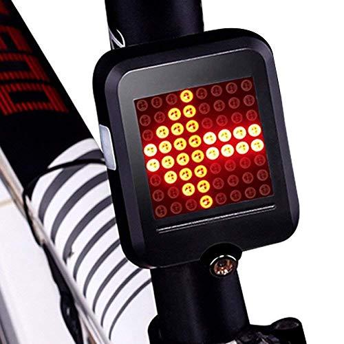 Sellingo, Luz Trasera Led para Bicicleta. Direccionales y Luz de Freno Automáticos, Láser de Seguridad,…