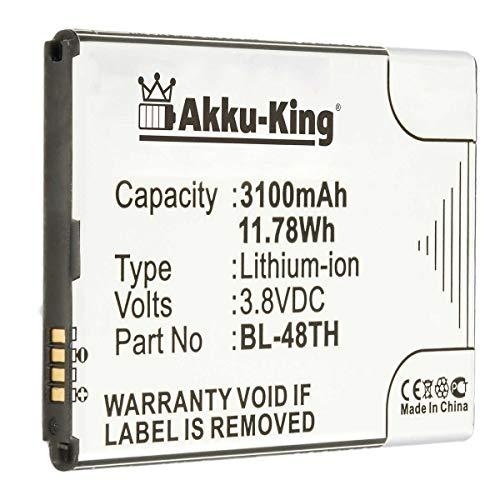 Akku-King Akku kompatibel mit LG BL-48TH - Li-Ion 3140mAh - für Optimus G Pro E986, G Pro Lite Dual D686, D682
