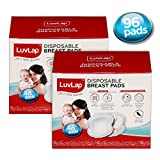 LuvLap Ultra Thin Disposable Breast Pads, Super Absorbent, Discreet Fit, 96 pcs