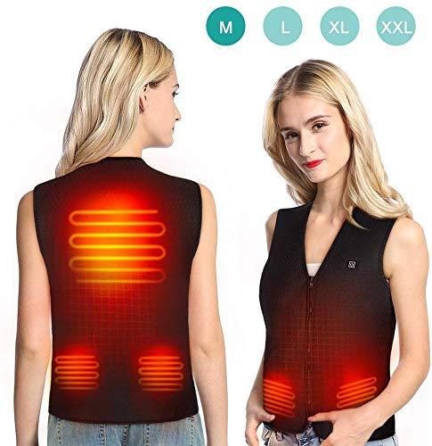 baratos y buenos Una chaqueta térmica, un chaleco térmico con carga USB y 5 almohadillas térmicas, … calidad