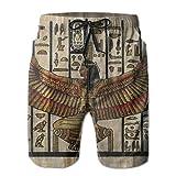 Love girl Shorts de Playa de Secado rápido para Hombres, baúl Egipcio Antiguo, Forro de Malla, bañador de Surf, bañador con Bolsillos, Talla XXL