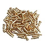 Mxfans 100x Golden Plating Copper Spring Pogo Pins Probes 2mm Dia 6mm Height