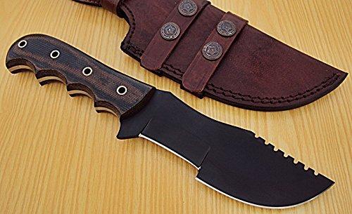 TR-61- Custom Handmade Hi-Carbon Steel (1095) 10.00 Inches Tracker Knife.