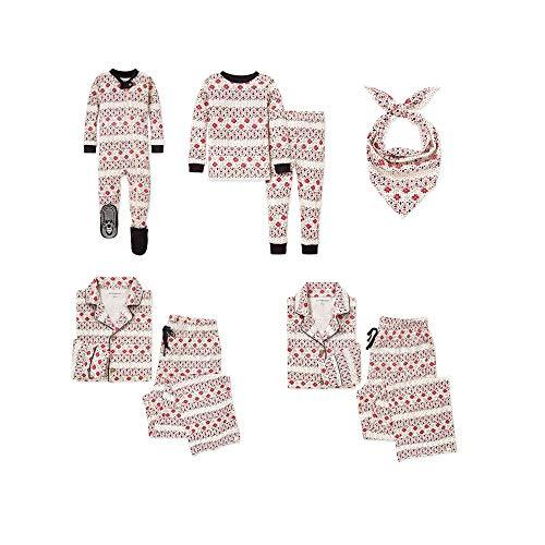 Burt's Bees Baby, Family Jammies, Matching Holiday Pajamas, Organic Cotton PJs, Bold Fair Isle, Toddler & Kids, 6 Years