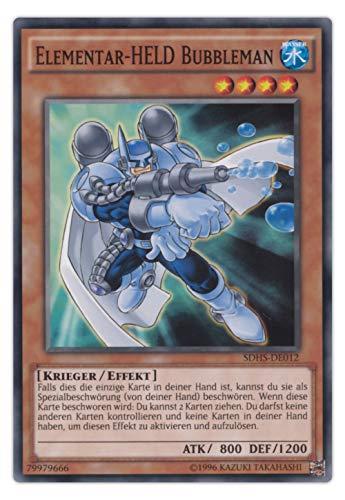 Structure Deck Yu-Gi-Oh Hero Strike Einzelkarten Playsets Auswahl - deutsch (SDHS-DE012 Elementar-HELD Bubbleman)