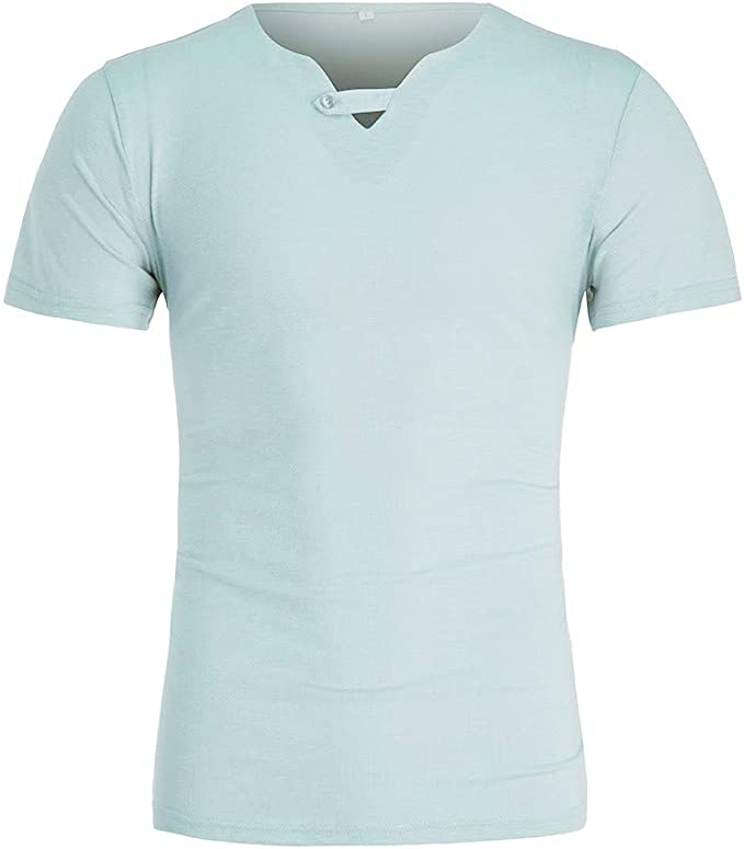 Camisetas Hombre,Overdose Verano de Lino Liso Algodón Talla ...