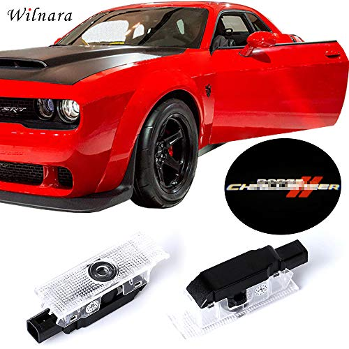 LED Car Door Logo Dodge Challenger Projector Ghost Shadow Courtesy Light Welcome Light for Dodge Challenger Scat Pack RT SRT SXT GT SE-No3