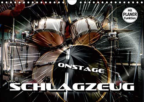 Schlagzeug onstage (Wandkalender 2021 DIN A4 quer)