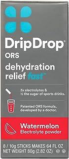 DripDrop ORS Electrolyte Hydration Powder Sticks, Watermelon, 10g Sticks, 8 Count