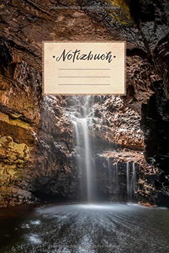 Notizbuch: liniert, 100 Seiten, DIN A5 Format, weißes Papier, glänzendes Softcover für hochwertiges Design   Notizheft - Tagebuch - Journal - Planer   ... Meer See Sonne Urlaub Paradies Steine Felsen