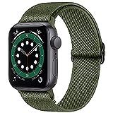 Younsea Apple Watch Correas Compatible con Apple Watch 44mm 42mm 38mm 40mm, Pulseras de Repuesto de Nylon Correa para iWatch Series 6 5 4 3 2 1 / Apple Watch SE, Mujer y Hombre - Verde Oliva