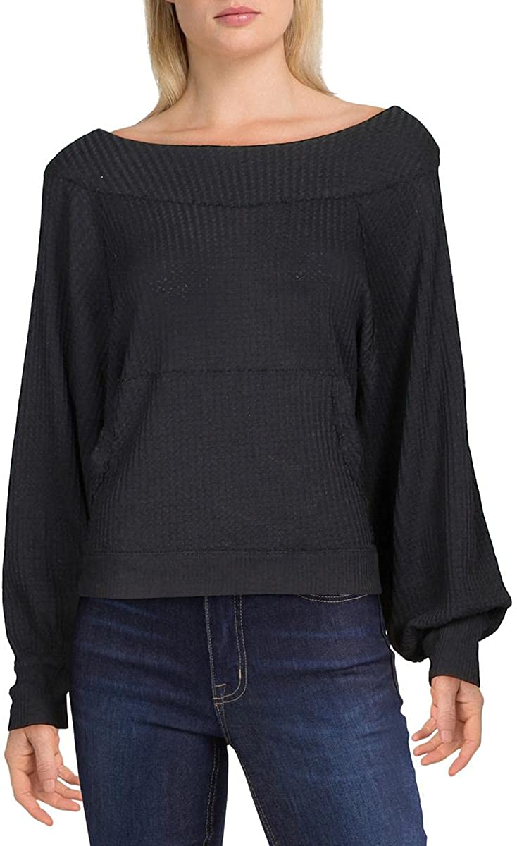 Free People Women's Westend 12-14 New excellence Orleans Mall Black Thermal LG