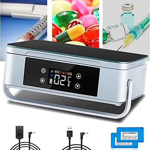 Insulin Kühlbox Mini Elektrisch Insulin Kühler Tragbare Medikamenten Kühlschrank Kleiner Auto Kühlschrank 2-8 ℃ Kühltasche Thermostat Für Auto Reise Zuhause