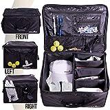 Athletico - Organizer per bagagliaio da golf, per riporre accessori da golf, pieghevole quando non in uso