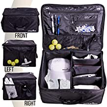 Athletico Golf Trunk Organizer Storage - Car Golf Locker to Store Golf Accessories | Collapsible When Not in Use