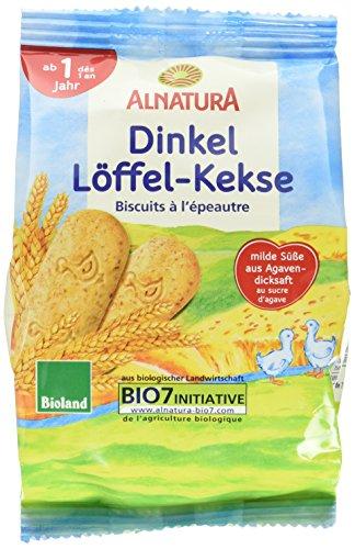 Alnatura Dinkel Löffel Kekse, 8er Pack (8 x 125 g)