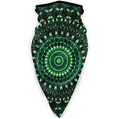 Indian Mandala Green Face sjaal masker winddicht ademend en dun fietsen wandelen vissen