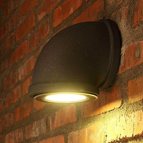 yjwall iluminación de pared de pared Leuchten lámpara de pared óxido Indoor LED Metal la Industria creativos retro para salón dormitorio cuarto de trabajo Hotel Piso