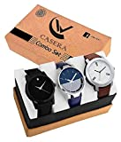 Casera Stylist Analog Watch Combo Set for Men Pack of - 3