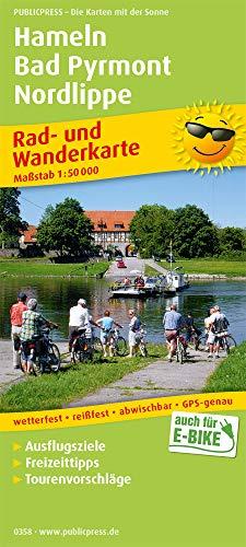 Hameln - Bad Pyrmont - Nordlippe: Rad- und Wanderkarte mit Ausflugszielen, Einkehr- & Freizeittipps und Stadtplänen Hameln und Bad Pyrmont, ... 1:50000 (Rad- und Wanderkarte: RuWK)