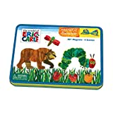 Mudpuppy Eric Carle The Very Hungry Caterpillar and Friends Magnetic Character Set– Ages 3+ - Magnetic Play Set with 4 Scenes, 40+ Magnets – Great for Travel, Quiet Time – Magnets Adhere to Tin Package
