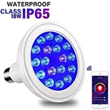 Luxbird LAP-302B 18W PAR38 WiFi Aquarium lamp Waterproof Blue Light Bulb Spectrum..