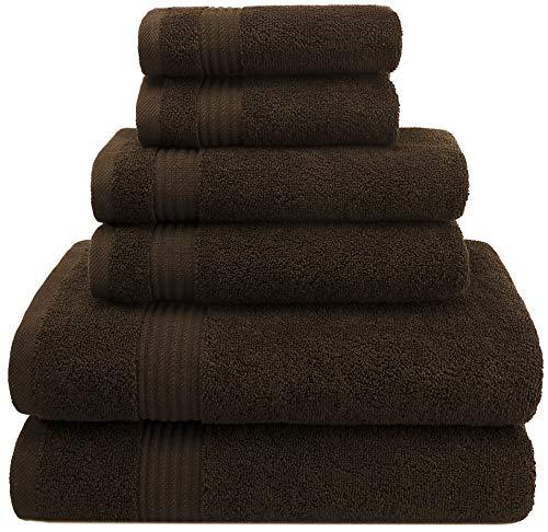 Juego de Toallas turcas Premium Hotel & SPA, 100% algodón, 6 Piezas para máxima suavidad y absorción por American Veteran Towel