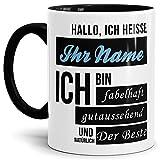 Namens-Tasse Hallo Ich Heisse (Ihr Name) Ich Bin Fabelhaft und Gutaussehend/Personalisierbar/Selbst...
