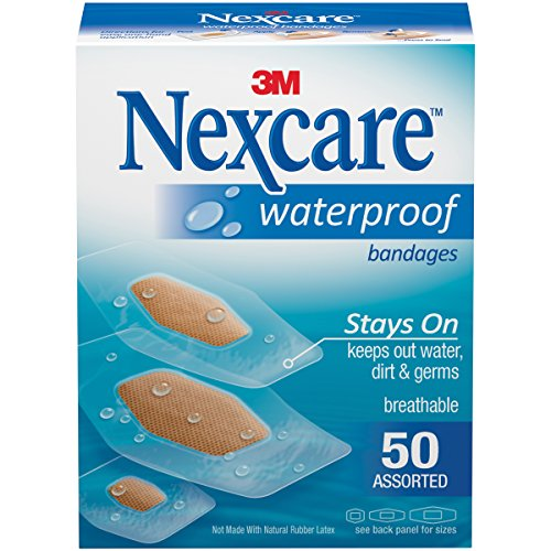 Nexcare Waterproof Bandage, Assorted Size, Clear (packaging may vary)