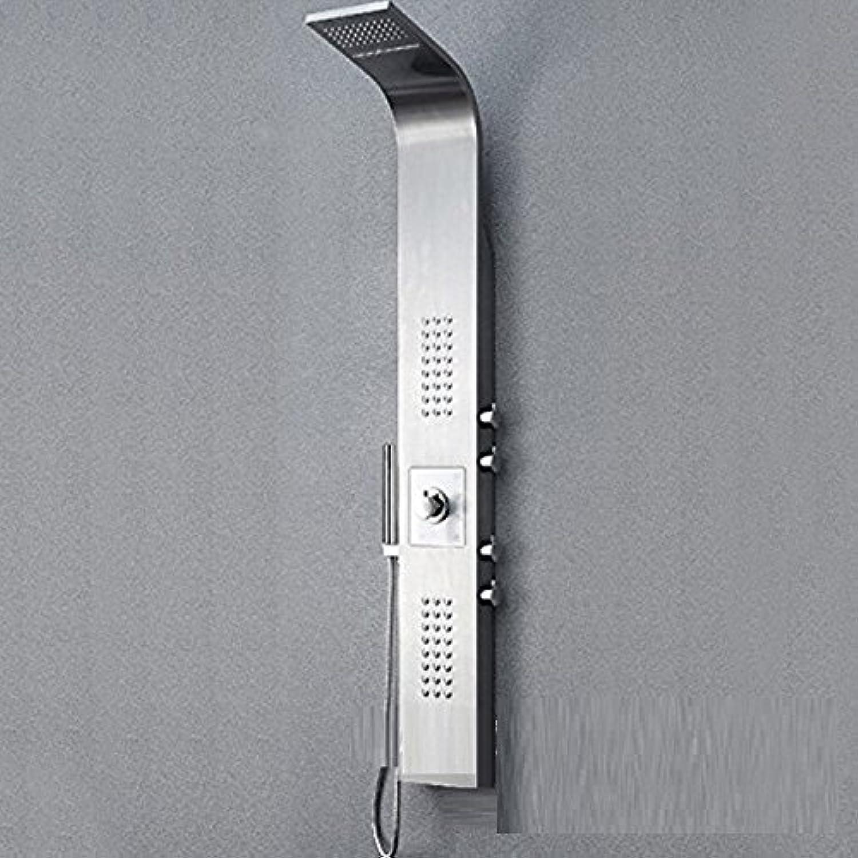 Bijjaladeva Wasserhahn Bad Wasserfall Mischbatterie Waschbecken Waschtisch Armatur für BadezimmerDas thermostatische Dusche Panel Edelstahl Dusche Duschkabine Armatur Eingestellt