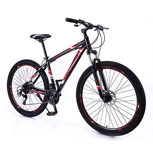 Vincci Store Mountainbike 21 Speed 29 Zoll Aluminium-Legierungsrahmen Mountainbike, geeignet für 1,6-1,8 Meter Fahrer, reduzieren Pendelzeit zur Schule und Arbeit (Rot)