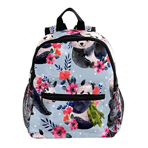 Girls School Bag Backpack Strap Kids School Backpack for Girls Elementary Student Schoolbag,Panda Blue