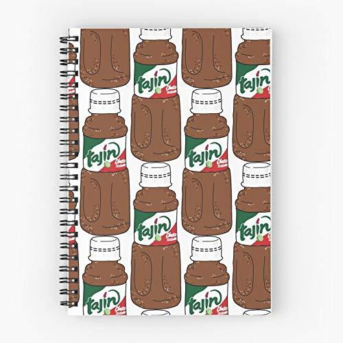 Tajin Fun Food Spicy Mexican Funny Cuaderno espiral lindo de cinco estrellas de la escuela con impresión duradera