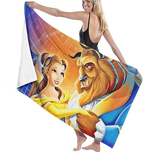 FSTGF Toalla de playa de algodón de microfibra absorbente toallas de baño de secado rápido – La Bella y la Bestia