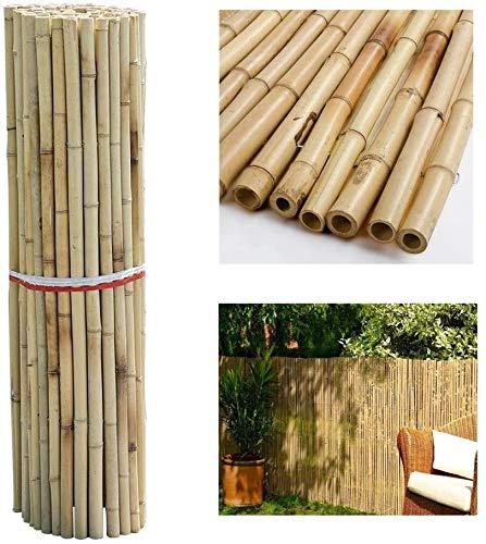 KANULAN Cercas Decorativas Pantalla de privacidad Jardín sin tintes Naturales Terraza Balcón Valla de bambúCerca de Jardín