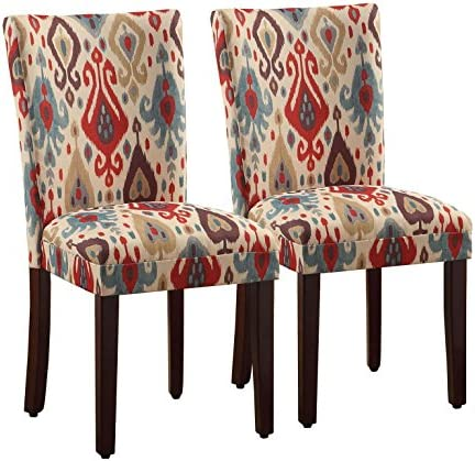 Best HomePop Parsons Upholstered Accent Dining Chair, Set of 2, Sienna