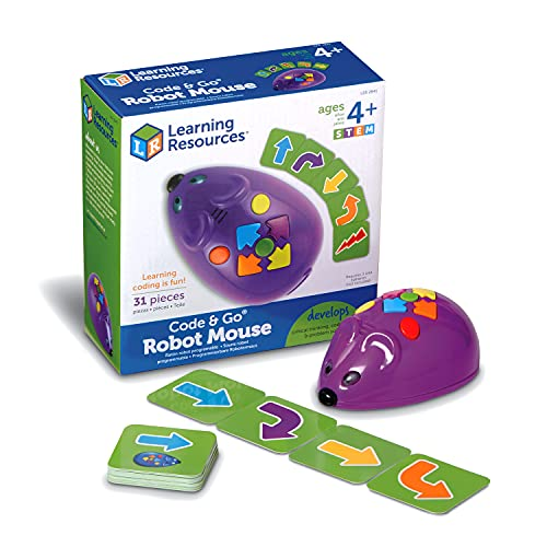 Learning Resources Code & Go Robot Mouse, Coding STEM Toy, 31 Piece...