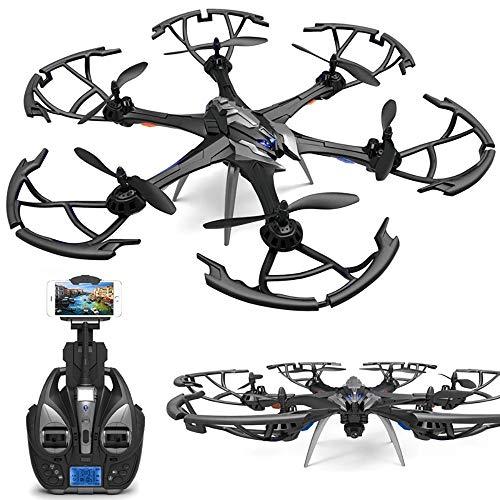 SJAPEX Mini Drohne 6-Achsen mit Kamera HD,Hexacopter Quadcopter mit Headless-Modus 10 Min Flugzeit Höhe Halten 3D Flips LED-Leuchten 3 Geschwindigkeitsmodi Drohne Für Kinder Anfänger