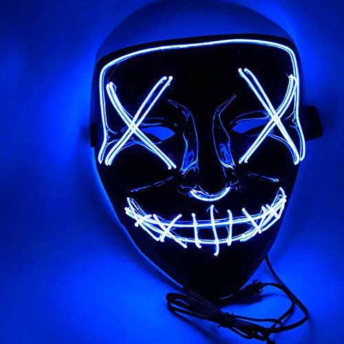 Sungpunet Máscaras Máscaras máscara del Partido luz de neón 1pcs hasta Las Elecciones del año Purga Gran Festival Fun Cosplay Material Brillan en la Oscuridad