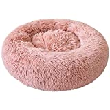 Festnight Deluxe Pet Bed for Cats and Small Medium Dogs Cuddler with Soft Cushion Round or Oval Donut Nesting Cave Bed Pet Cat Bed for Cats and Small Dogs, XL-25.6