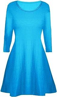 22a45cf4b5cdb Fashion Oasis Filles Robe Patineuse Plaine Manches Longues Été Robe  Balançoire Âge 5-13