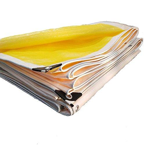 Pengbu MEIDUO Bches Couverture polytp Résistante Imperméable de polytp, Réversible, Jaune et Blanc 180g/m² -0.38mm pour l'extérieur (Couleur : Le Jaune, Taille : 5*10m)