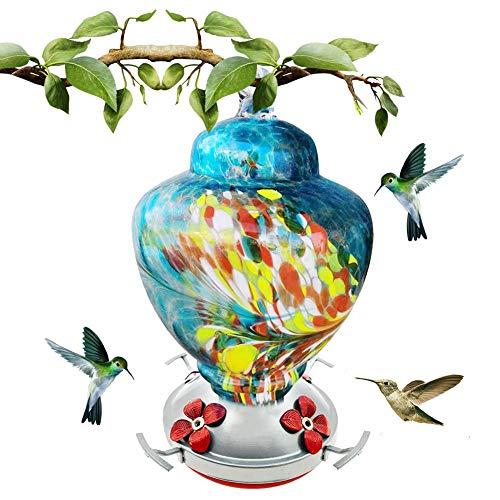 Eillybird beschilderd vogelhuisje Kolibri drinkfontein tuin wilde drinkfontein geschikt voor drinkwater, zoals colibris, en hokken 4.72 4.72 7.87 in, blauw