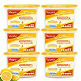 Vacplus Moisture Absorbers (6 pack), 10.5Oz Portable Humidity Absorber & Dehumidifier Boxes for Closet Effectively Trap Extra Moisture, Odor Eliminator with Lemon Fragrance for Fresher Air (Nickname:VA-M164LE)