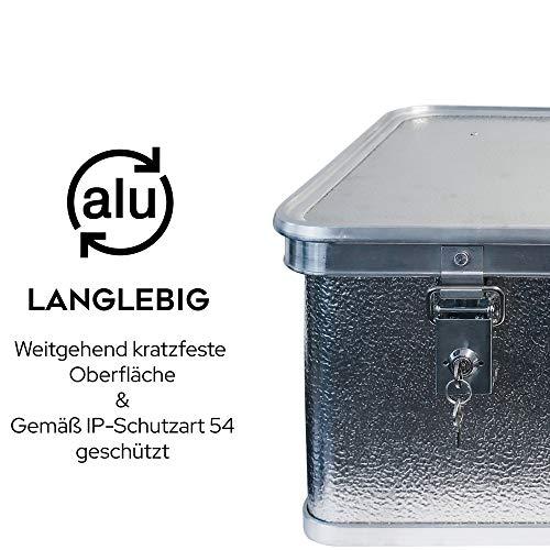 Alubox mit Deckel abschließbar - Alukiste Hemmdal PRO - Alu Box (42 L) groß - Profi Transportkiste - Transportbox Made in Germany - 4