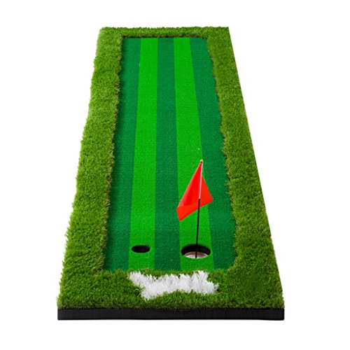 Übungsputter Büro Praxis Decke Ball Pad Portable Golf Grün Garten Im Freien Golf-Übungsgerät Innen-Simulator Praxis Decke Schlagmatten (Color : Green, Size : 75 * 300cm)