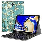 MoKo Funda para Samsung Galaxy Tab S4 10.5' Teclado, Cubierta con Soporte para Stylus, Protector de Teclado Inalámbrico para Galaxy Tab S4 10.5' (SM-T830 and SM-T835) 2018 - Bloom de Albaricoque