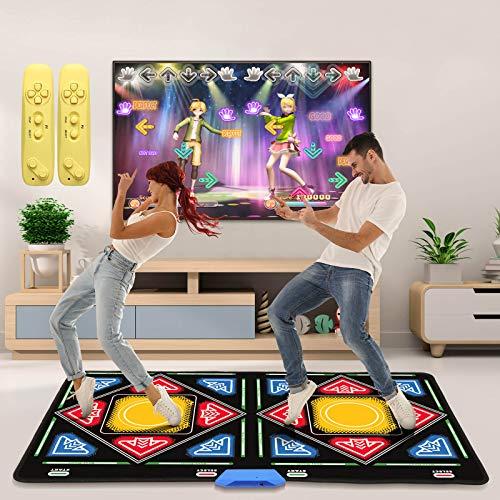 Elikliv Double Dance Mat for Kids Adults Boys Girls